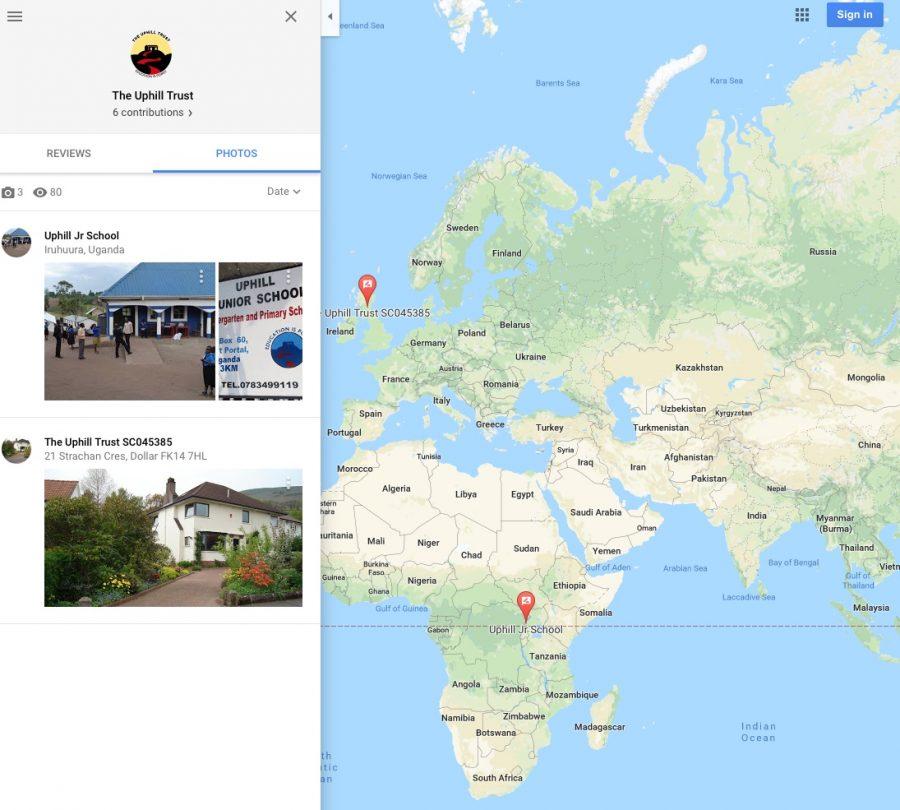 uphill junior school on google maps
