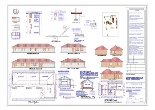 detailed building plans for school license