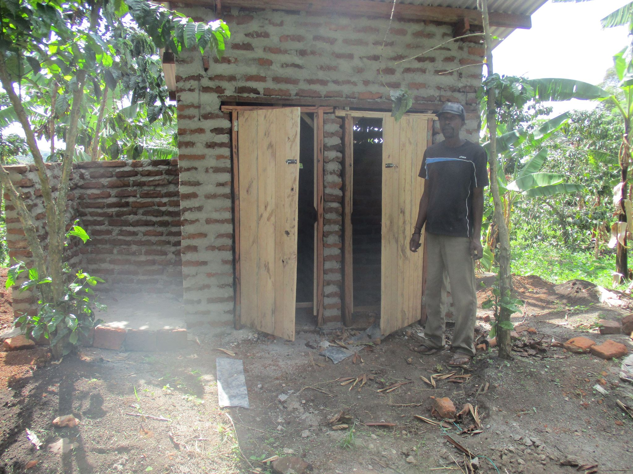temporary latrine for teachers