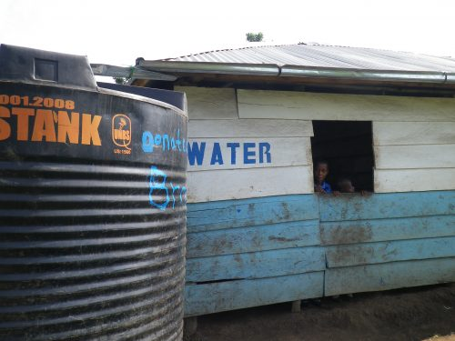 the first rain water harvesting tank