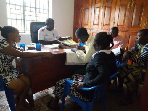 staff meeting in school office