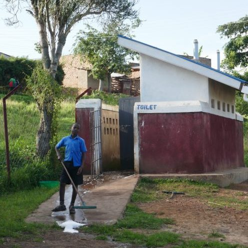 keeping the latrines clean