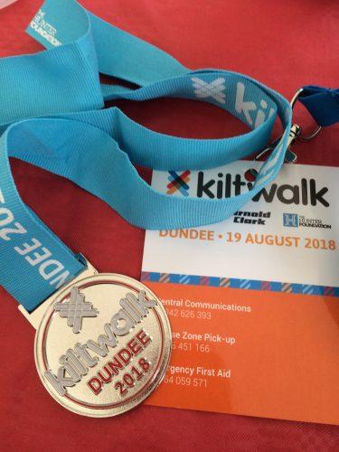 dundee kiltwalk medal 2018