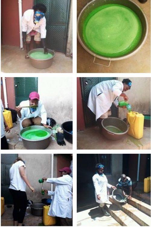 making liquid soap for hand washing
