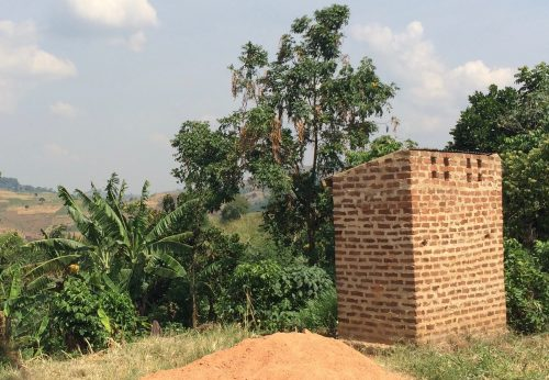 latrine on the old school site