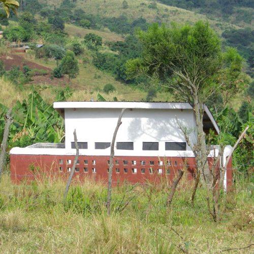 first uphill latrine block