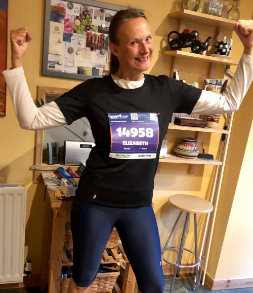 uphill marathon runner