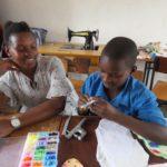 teaching a pupil to make sanitary pads