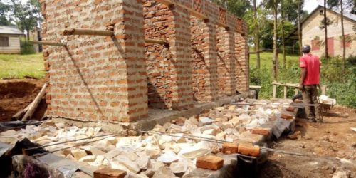 Superstructure for the new latrine block